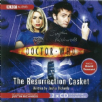 "Doctor Who ""The Resurrection Casket"" (CD COVER ONLY) signed by Justin Richards 2415"
